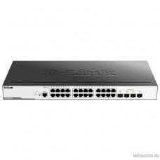 D-Link DGS-3000-28L/B1A Управляемый коммутатор 2 уровня с 24 портами 10/100/1000Base-T и 4 портами 1000Base-X SFP