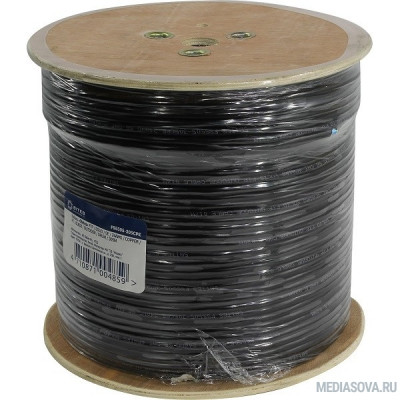5bites Кабель FS5505-305CPE  FTP / SOLID / 5E / 24AWG / COPPER / PVC(+PE) / BLACK / OUTDOOR / MESSENGER / DRUM / 305M