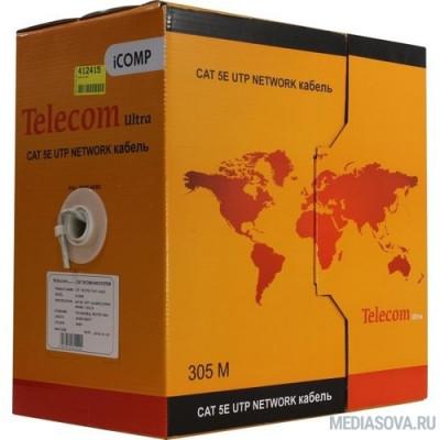 Telecom Ultra Кабель UTP кат. 5e 4 пары медь (305м) (0.40mm) CU серый ПВХ [CU540]