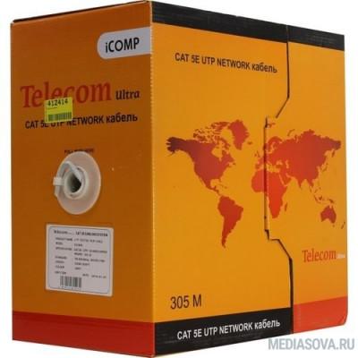 Telecom Ultra Кабель UTP кат. 5e 4 пары медь (305м) (0.435mm) CU серый ПВХ [CU544]