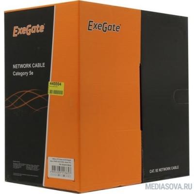 Exegate EX281815RUS Кабель Exegate  UTP4-C5e-CU-S25-IN-PVC-GY-305 UTP 4 пары кат.5e медь, 25AWG, бухта 305м, серый,  PVC