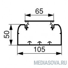 Legrand 010429 Кабель-канал DLP 50x105 - 1 секция - 1 крышка 65 мм - длина 2 метра - белый