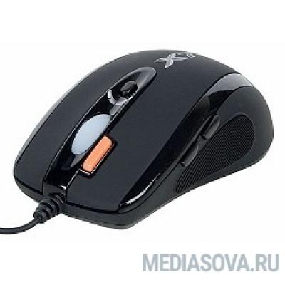 A4Tech X(7)-710BK (черный) USB, 2000dpi, встр. память 16Кб, 1000ГЦ, 7 кнопок. [94397]