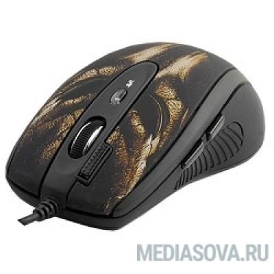 A4Tech XL-750BH (черный+корич.) USB,  6кн, 1кл-кн, 3600DPI [543214]