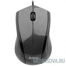 A4Tech N-400-1 (сер.глянец) USB, 2+1 кл.-кн.,провод.мышь [603729]