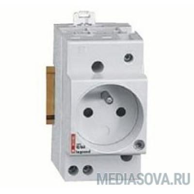 Legrand 004285 Розетка на ДИН-рейку - 10/16 A - 250 В~ - 2К+З - немецкий стандарт