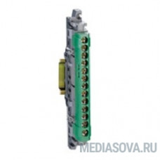 Legrand 04834 Колодка клеемная зеленая 12X16+1X25 048XX17W45