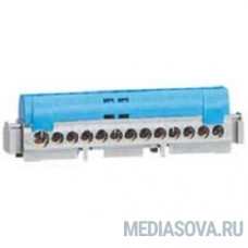 Legrand 04844 Клеммная колодка IP 2X - нейтраль - синяя - 1 x 6-25 мм? - 12 x 1,5-16 мм2 - длина 113 мм
