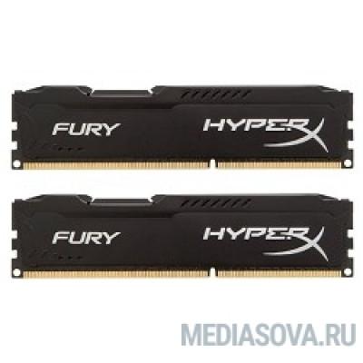 Оперативная память Kingston DDR3 DIMM 8GB (PC3-10600) 1333MHz Kit (2 x 4GB)  HX313C9FBK2/8 HyperX FURY Black Series CL9
