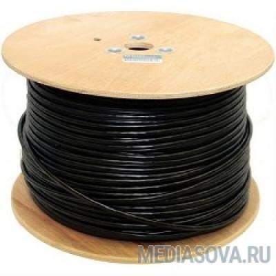 Telecom Кабель FTP кат. 5е 4 пары (305м) (0.51mm) CU внешний с тросом, черный [FTP4-TC1000C5EN(CU)-OS-SW]