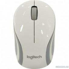 910-002735 Logitech Wireless Mini Mouse M187 White-Silver USB