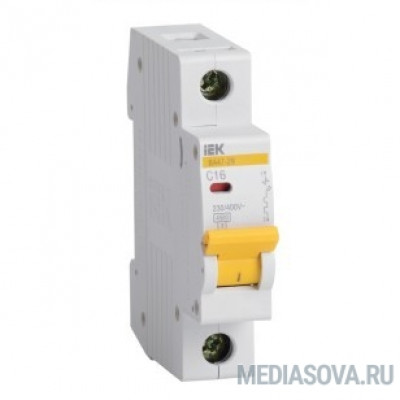 Iek MVA20-1-016-B Авт. выкл.ВА47-29 1Р 16А 4,5кА х-ка В ИЭК