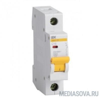 Iek MVA20-1-020-B Авт. выкл.ВА47-29 1Р 20А 4,5кА х-ка В ИЭК