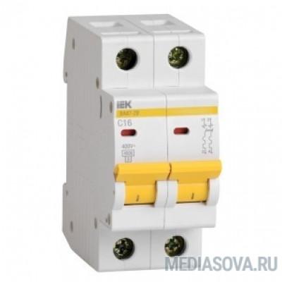 Iek MVA20-2-016-C Авт. выкл.ВА47-29 2Р 16А 4,5кА х-ка С ИЭК