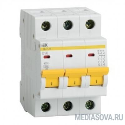 Iek MVA20-3-016-C Авт. выкл.ВА47-29 3Р 16А 4,5кА х-ка С ИЭК