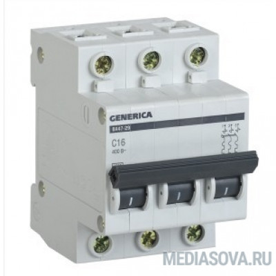 Iek MVA25-3-020-C Авт. выкл. ВА47-29 3Р 20А 4,5кА х-ка С GENERICA