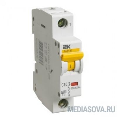 Iek MVA41-1-006-C Авт.выкл. ВА 47-60 1Р 6А 6 кА  х-ка С ИЭК