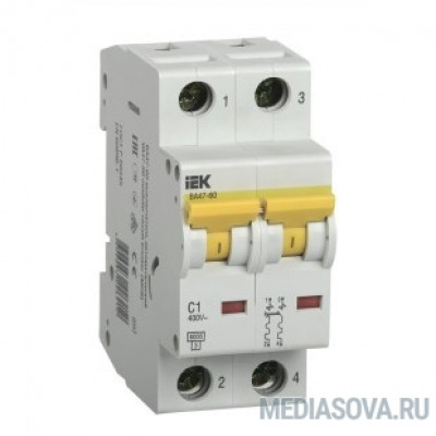 Iek MVA41-2-020-C Авт.выкл. ВА 47-60 2Р 20А 6 кА  х-ка С IEK