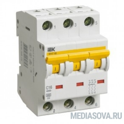 Iek MVA41-3-020-C Авт.выкл. ВА 47-60 3Р 20А 6 кА  х-ка С IEK