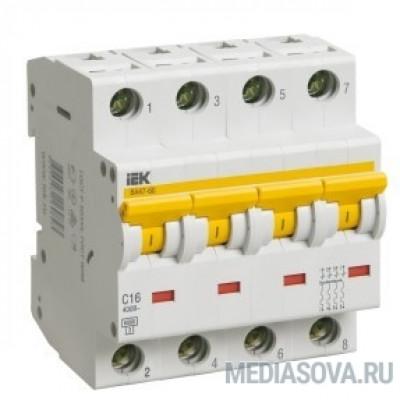 Iek MVA41-4-032-C Авт.выкл. ВА 47-60 4Р 32А 6 кА  х-ка С ИЭК