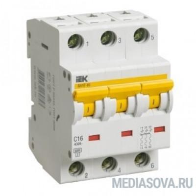 Iek MVA41-3-025-B Авт.выкл. ВА 47-60 3Р 25А 6 кА  х-ка B IEK