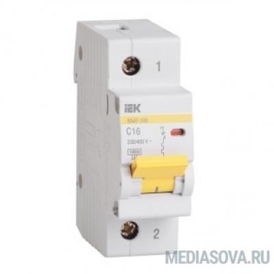 Iek MVA40-1-100-C Авт.выкл. ВА 47-100 1Р100А 10 кА  х-ка С ИЭК