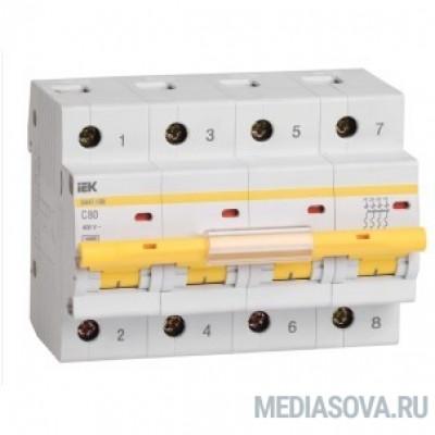 Iek MVA40-4-080-C Авт.выкл. ВА 47-100 4Р 80А 10 кА  х-ка С ИЭК