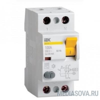 Iek MDV10-2-016-100 УЗО ВД1-63 2Р 16А 100мА ИЭК