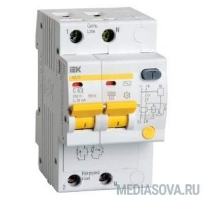 Iek MAD10-2-025-C-100 Диф.автомат АД12 2Р 25А 100мА ИЭК
