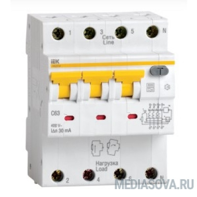 Iek MAD22-6-032-C-100 АВДТ 34 C32 100мА - Автоматический Выключатель Дифф. тока