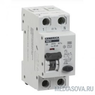 Iek MAD25-5-016-C-30 АВДТ 32 C16 - Автоматический Выключатель Дифф. Тока GENERICA