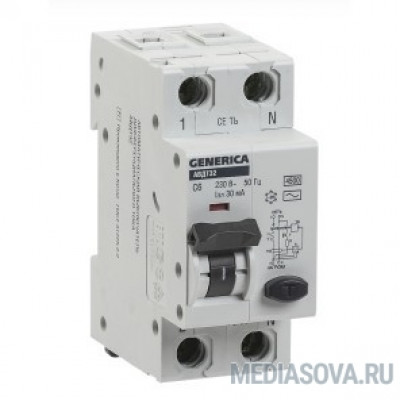 Iek MAD25-5-040-C-30 АВДТ 32 C40 - Автоматический Выключатель Дифф. Тока GENERICA