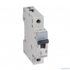 Legrand 403858 Автоматический выключатель TX3 6000 - 10 кА - тип характеристики B - 1П - 230/400 В~ - 10 А - 1 модуль
