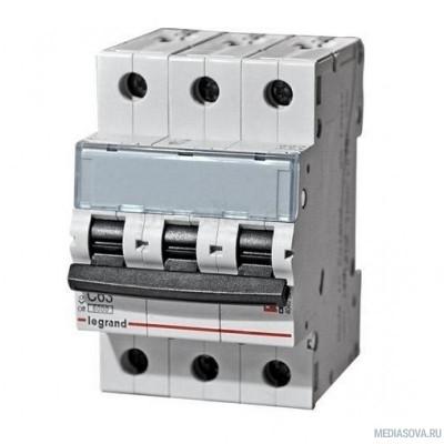 Legrand 404060 Автоматический выключатель TX3 6000 - 6 кА - тип характеристики C - 3П - 400 В~ - 40 А - 3 модуля
