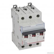 Legrand 407291 Автоматический выключатель DX3-E 6000 - 6 кА - тип характеристики C - 3П - 230/400 В~ - 16 А - 3 модуля