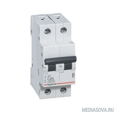 Legrand 419699 RX3 Авт.выключатель 4,5кА 25А 2П C