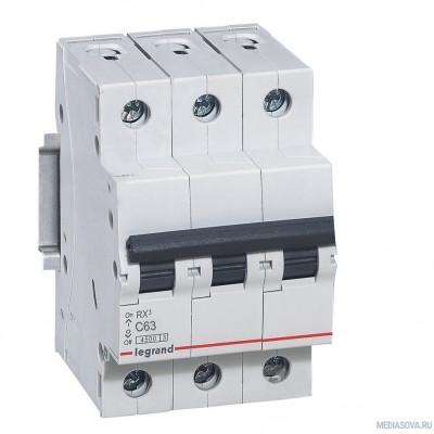 Legrand 419714 RX3 Авт.выключатель 4,5кА 63А 3П C