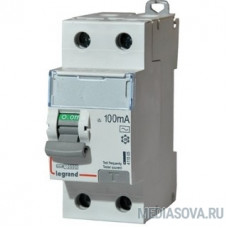 Legrand 411516 Выключатель дифференциального тока DX?-ID - 2П - 230 В~ - 63 А - тип AC - 100 мА - 2 модуля