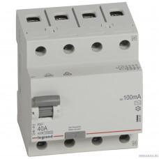 Legrand 402067 RX3 ВДТ 100мА 40А 4П AC