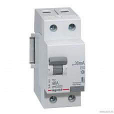 Legrand 403001 Выключатель дифференциального тока TX3 - 2П - 40 А - тип AC - 30 мА - 2 модуля