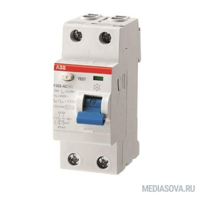 ABB 2CSF202101R1630 Выкл.диф.тока 2мод. F202 A-63/0,03