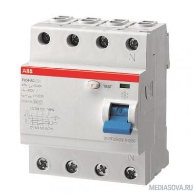 ABB 2CSF204001R1250 Выкл.диф.тока 4мод. F204 AC-25/0,03