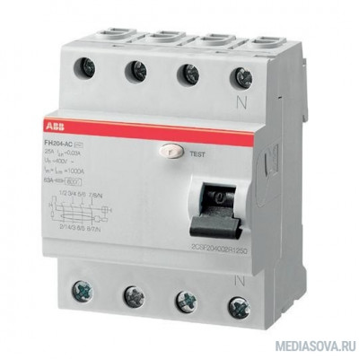 ABB 2CSF204004R1250 Выкл.диф.тока 4мод. FH204 AC-25/0,03