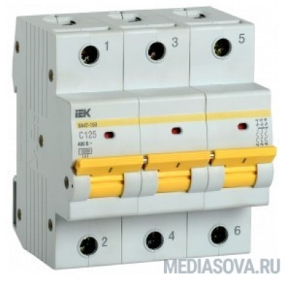 Iek MVA50-3-125-C Авт. выкл. ВА47-150 3Р 125А 15кА х-ка C