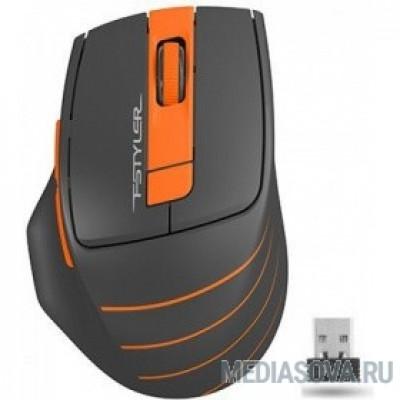 A-4Tech Мышь Fstyler FG30  ORANGE серый/оранжевый оптическая (2000dpi) беспроводная USB [1147562]