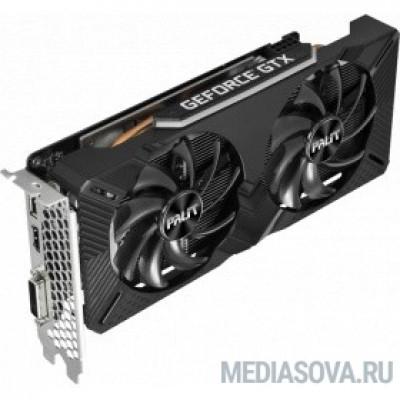 Видеокарта Видеокарта Palit PCI-E PA-GTX1660 DUAL 6G nVidia GeForce GTX 1660 6144Mb 192bit GDDR5 1530/8000 DVIx1/HDMIx1/DPx1/HDCP Ret