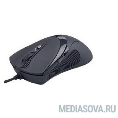 A4Tech X-748K Black USB,  6кн, 1кл-кнопка, 3200DPI [94400]