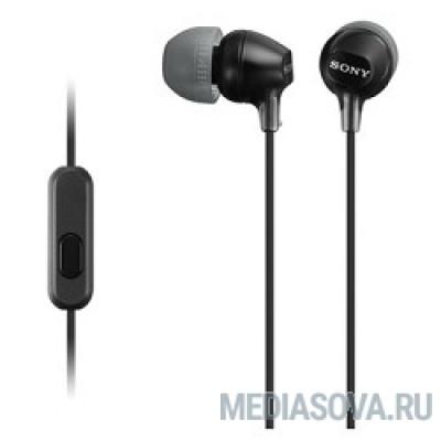 SONY MDR-EX15AP черный Наушники с гарнитурой [MDREX15APB.CE7]