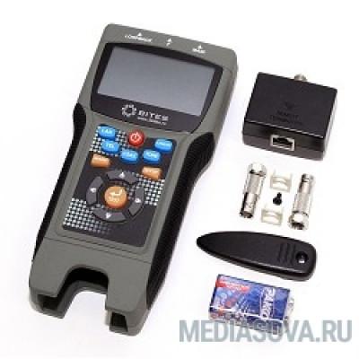 5bites LY-CT030 PRO Тестер кабеля EXPRESS  многофункциональный для RJ11/12/45/BNC, TDR, LCD