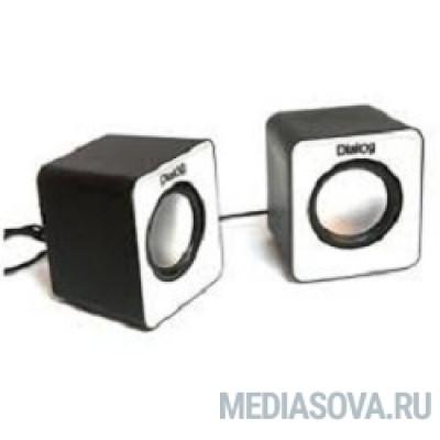Dialog Colibri AC-02UP BLACK-WHITE акустические колонки 2.0, 5W RMS, питание от USB